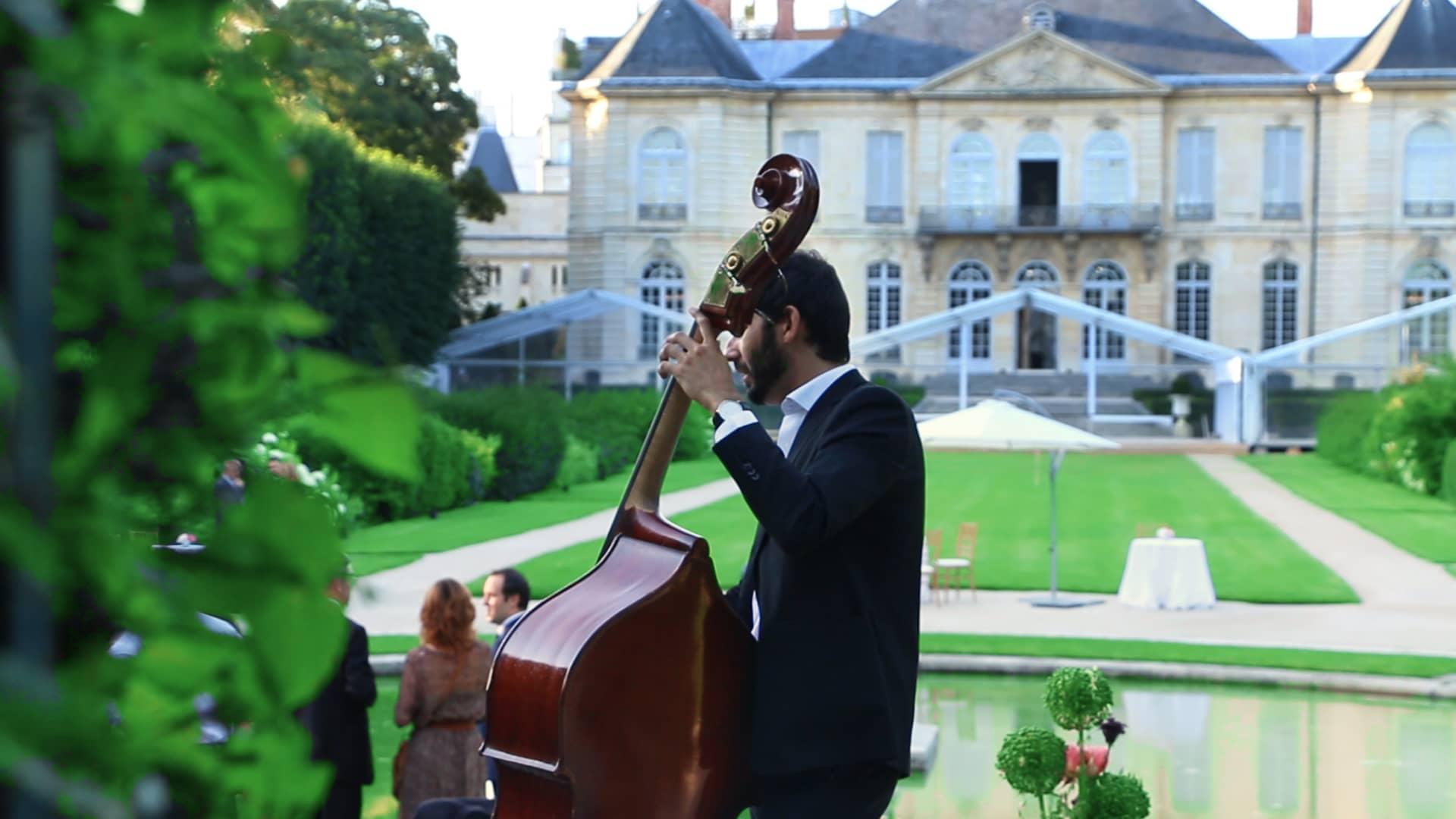 musiciens vin d'honneur cocktail mariage