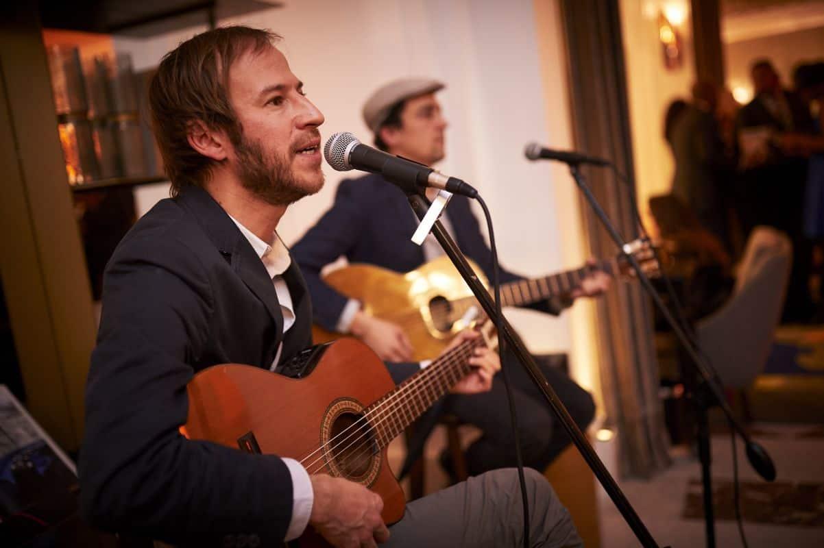 musiciens jazz manouche vin d'honneur mariage