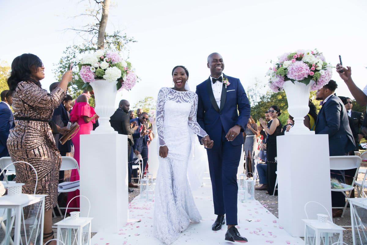 couple mariage noir photographe robe costard