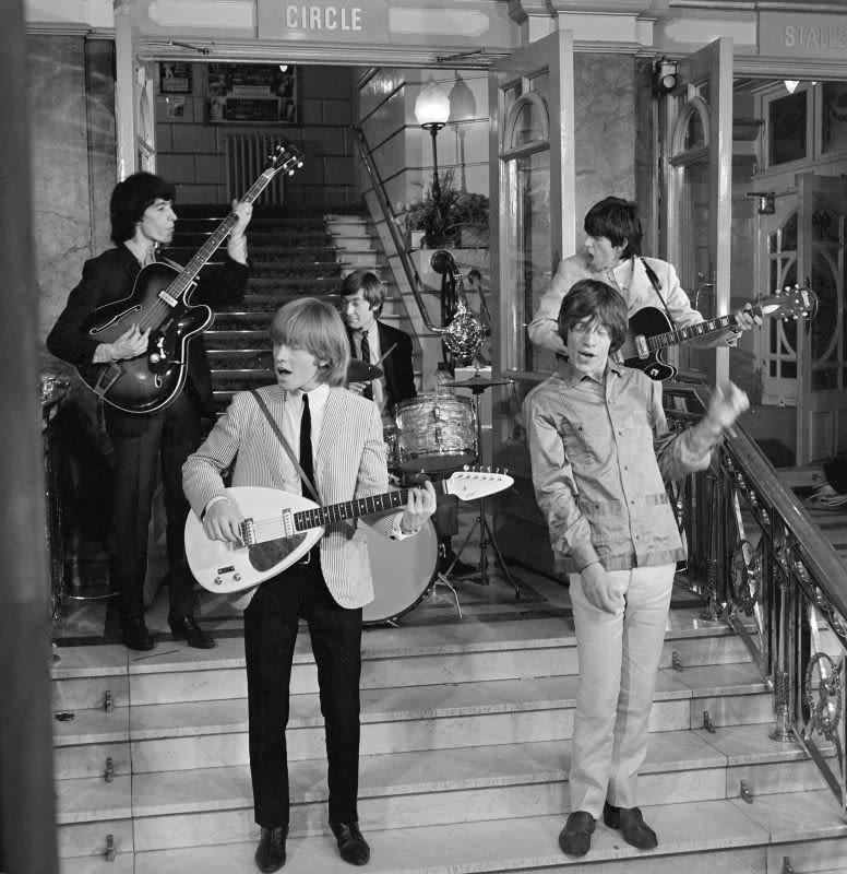 Bill Wyman Brian Jones Keith Richards Charlie Watts Mick Jagger Rolling Stones Londres