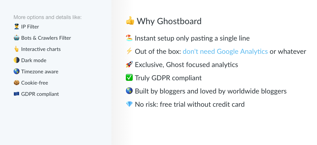 Why Ghostboard section