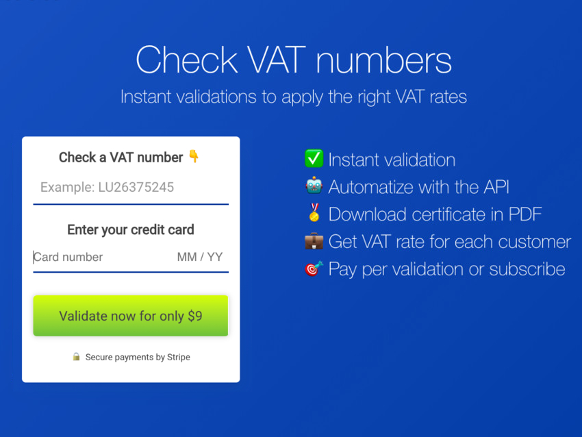 VATnumbers.eu screenshot