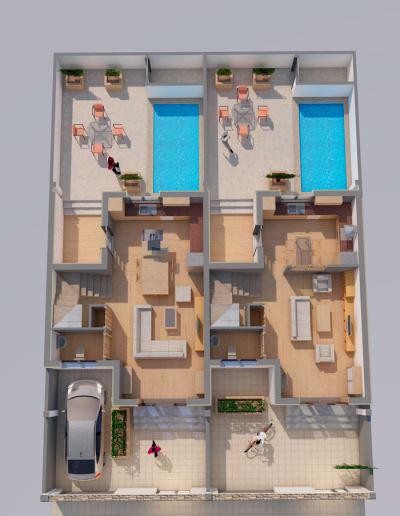 Construcción de casas por el arquitecto en Mérida