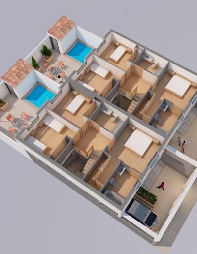 Proyecto de construcción de casas en Cáceres