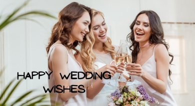 Happy Wedding Wishes for Cards