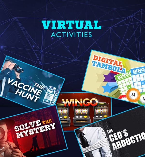 Book top virtual employee engagement activities for fun and game based team building