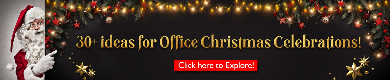 Book Corporate Christmas theme employee engagement activities and fun games for your office. 30+ Fun activities, Games and fun food for you office by engage4more