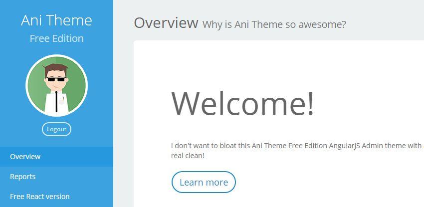 20+ Free Angularjs Responsive Admin Template & Themes