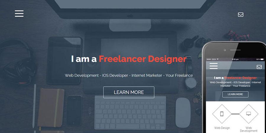 Freelance Onepage Portfolio Flat Bootstrap Responsive Web Template