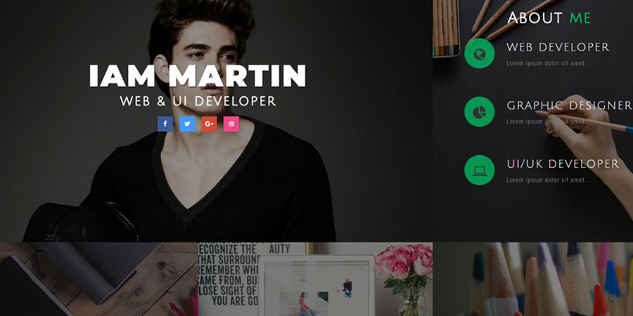 Connect CV Personal Category Bootstrap Responsive Web Template