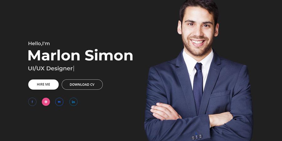 Saimon Portfolio Personal Template