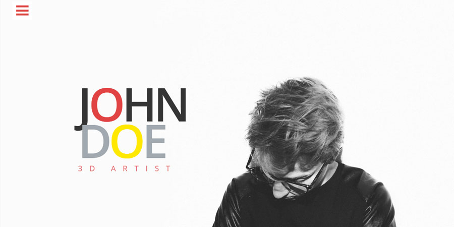 Johndoe Free One Page Portfolio Website Template