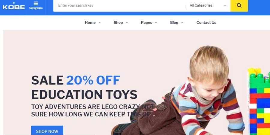 Kobe - Multi Store eCommerce Bootstrap 4 Template