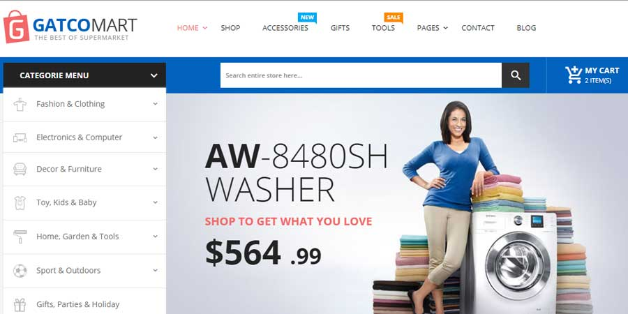 Gatcomart - Mega Shop eCommerce HTML Template