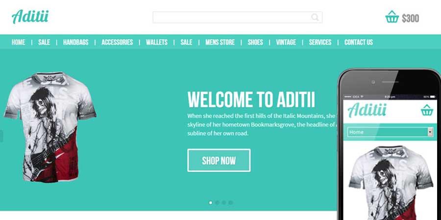 Aditii ECommerce Responsive Web Template