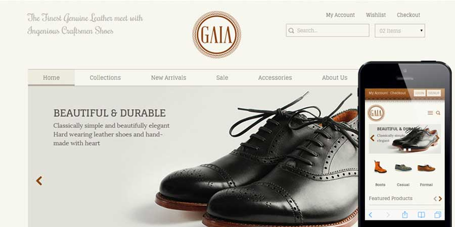 Gaia  ECommerce Bootstrap Responsive Web Template