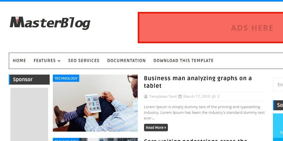 Master Blog Responsive Blogger Template