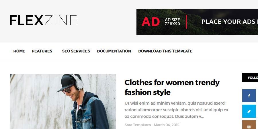 FlexZine Responsive Blogger Template