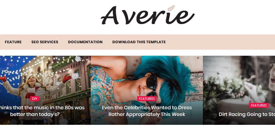 Averie Responsive Blogger Template