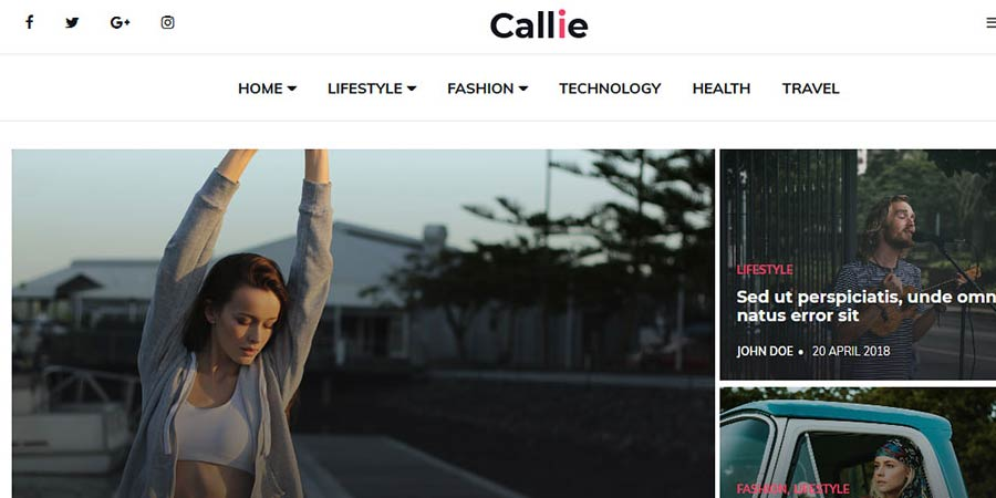 Callie Blogger Template