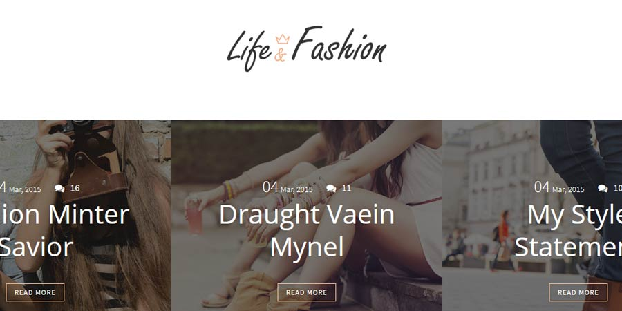 Life-Fashion Blogger Template