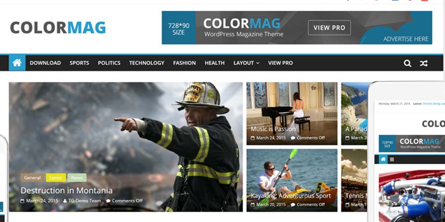 ColorMag Magazine Style Free WordPress Theme