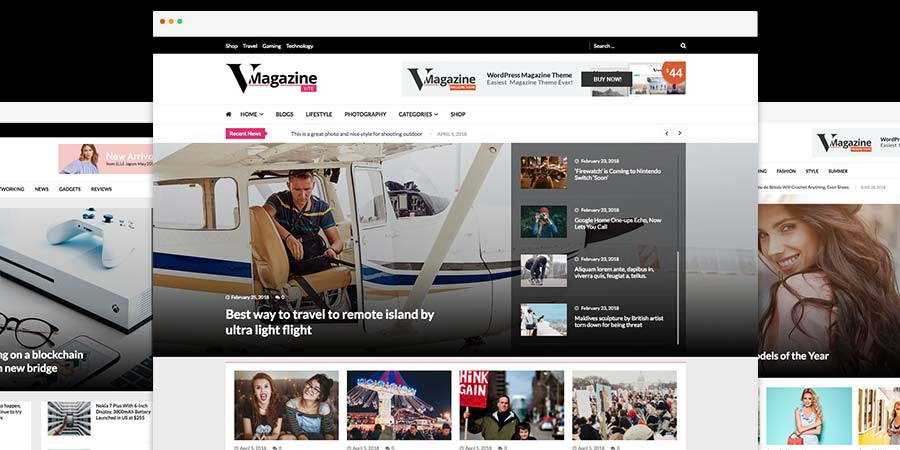 VMagazine Lite Free WordPress Theme