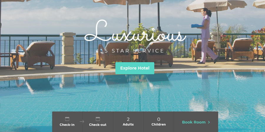 Jasper Hotel - Website Template