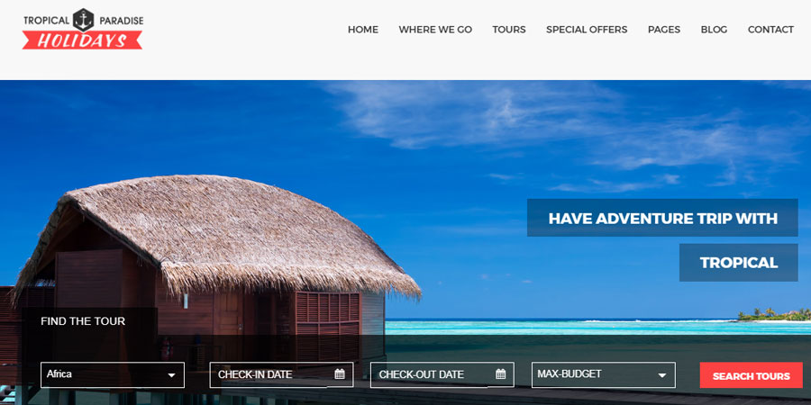 Tropical Travel HTML