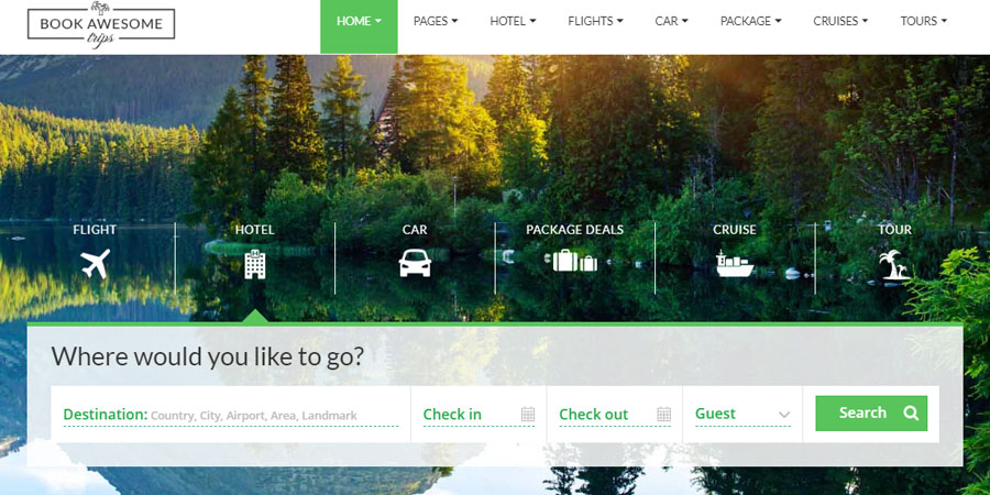 Book Awesome Trip - Travel Booking Site Template