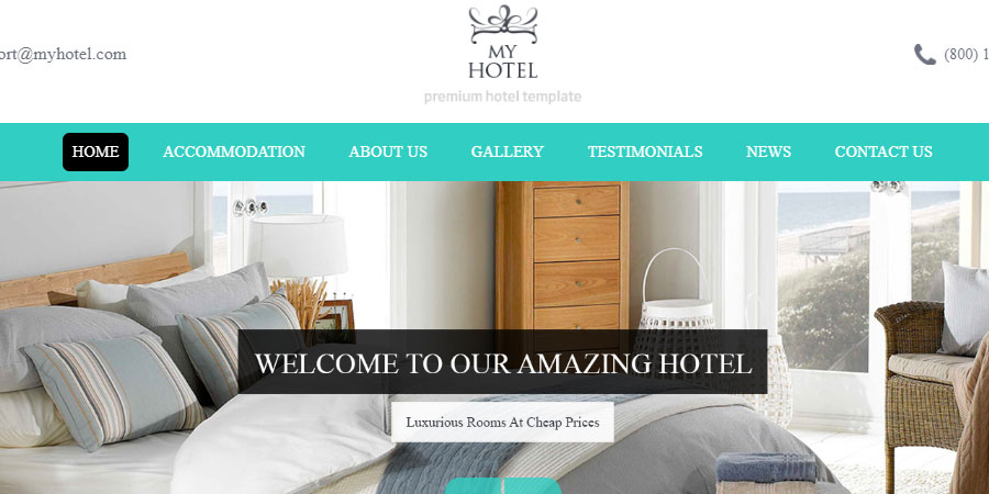 My Hotel - Online Hotel Booking Template
