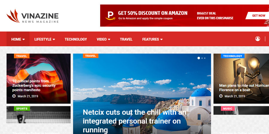 Vinazine - Multi-concept News, Magazine HTML Template