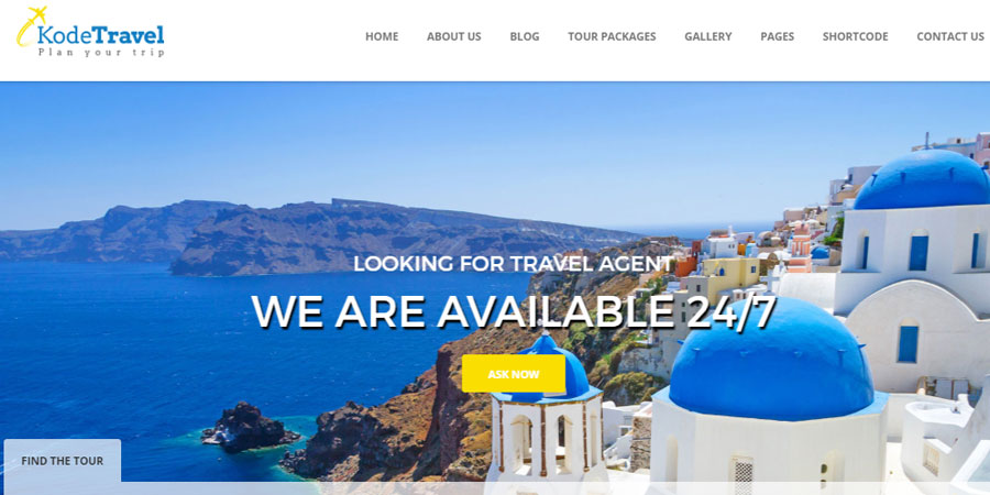 KodeTravel & Tourism HTML5 Template