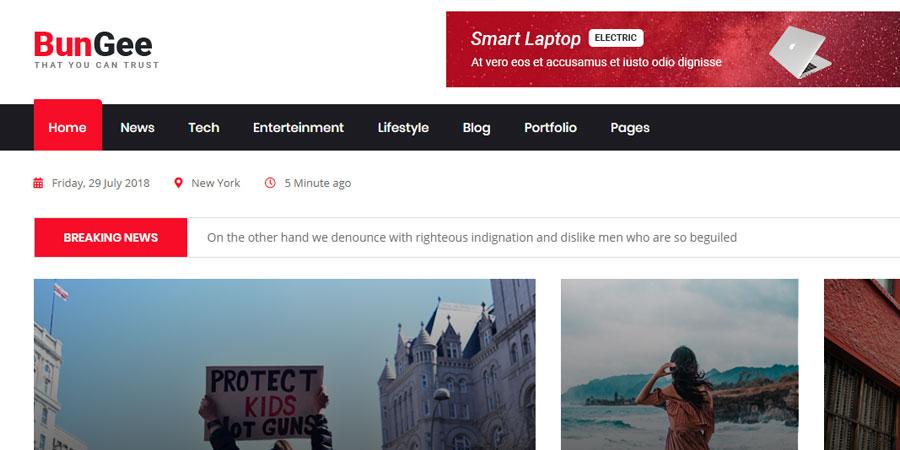 BunGee - Blog, News & Magazine HTML5 Template