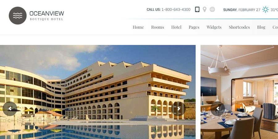 Ocean View - Hotel Website HTML Template