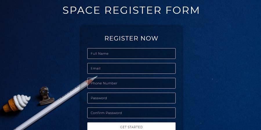 Space Register Form