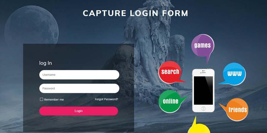 Capture Login Form