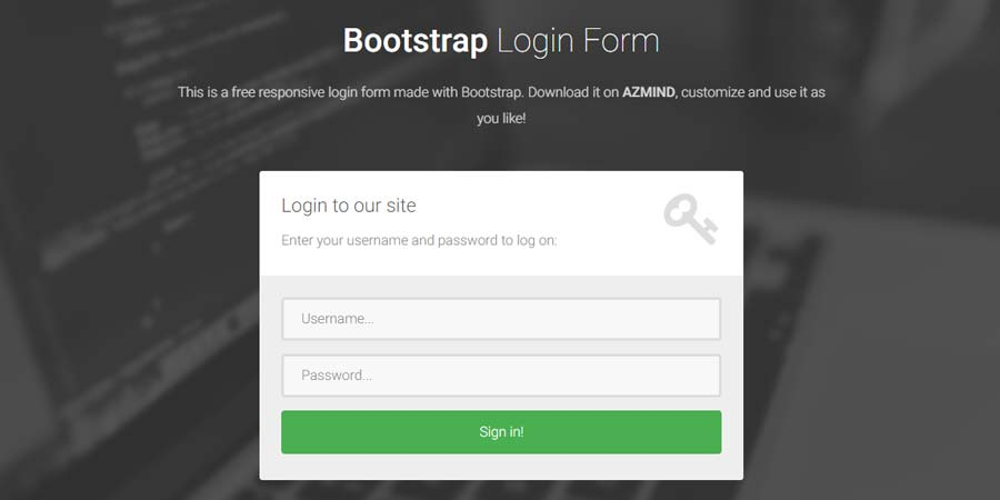 Bootstrap Login Form Templates