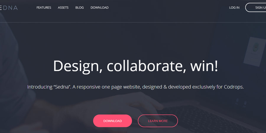 Sedna Landing Page