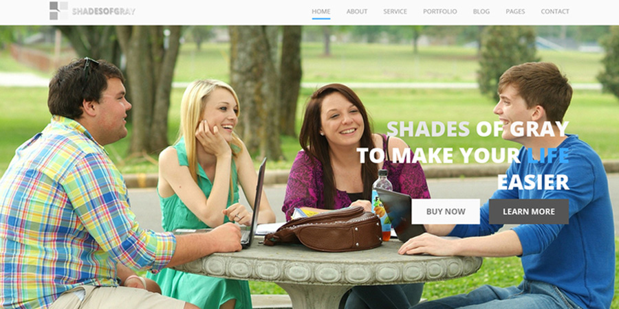 Shades Of Gray - Free PSD Web Template