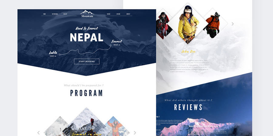 Booking Travel Website Template
