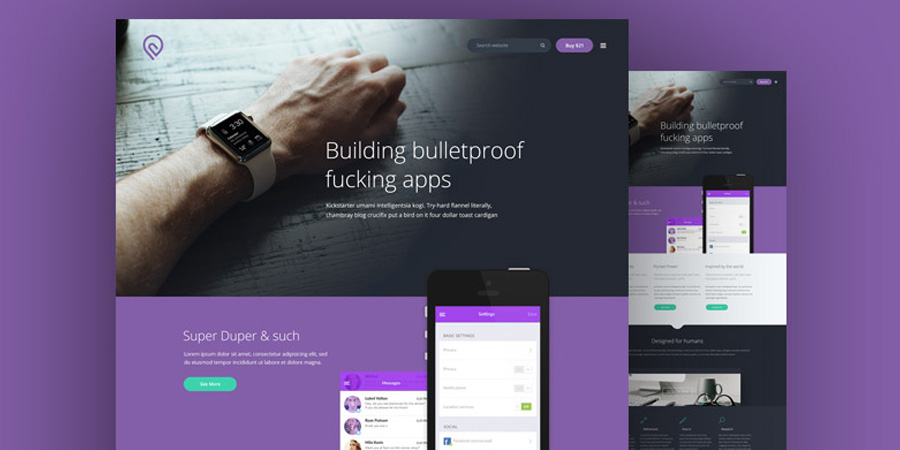 Tork - A Free PSD website template
