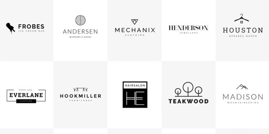Minimalistic Logo Set Free PSD Templates