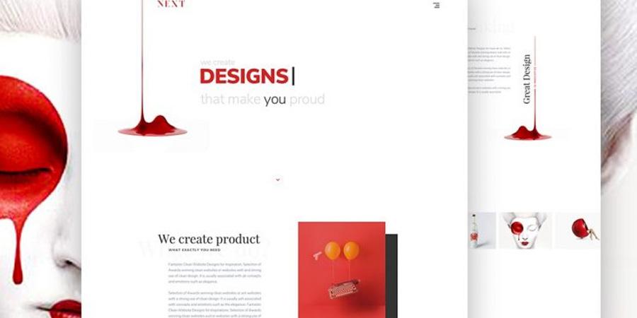 Minimalist Agency Landing Page Template PSD