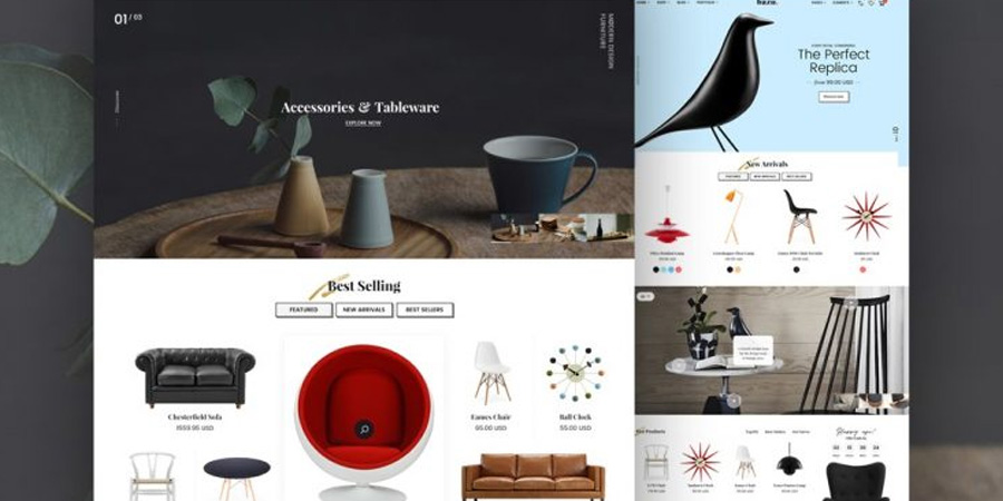 Furniture Store Web Templates PSD