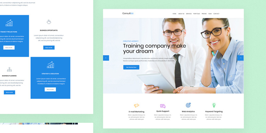 ConsultBiz PSD Website Template