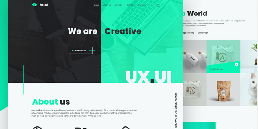 Creative & Digital Agency Website Template