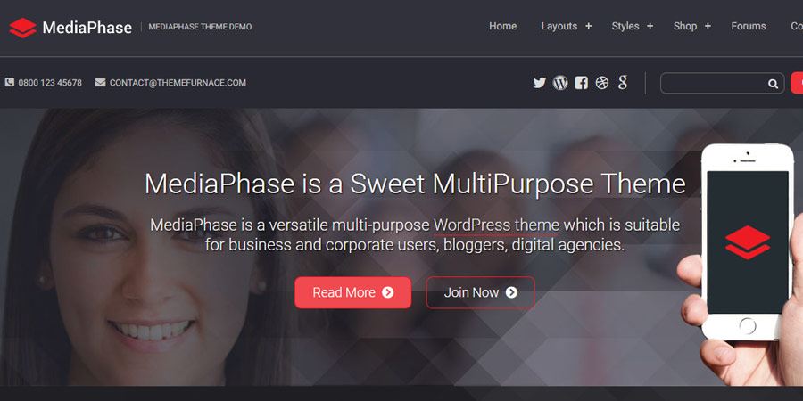MediaPhase WordPress Theme