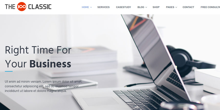 The100 – Free Responsive WordPress Multipurpose Theme