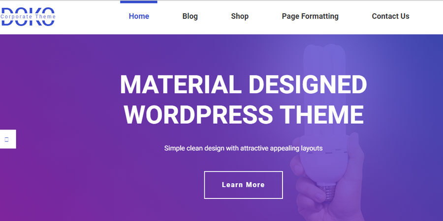 Doko- Free Material Design WordPress Corporate Theme